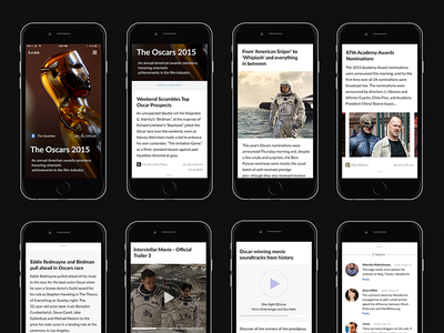 News Live Feed - Mobile Layout stream mobile photos storytelling story content design content clean typography news live feed