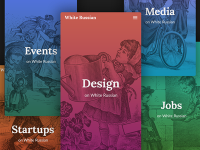 Header Images, Mobile View header image gradient colours background white russian ui illustrations responsive mobile