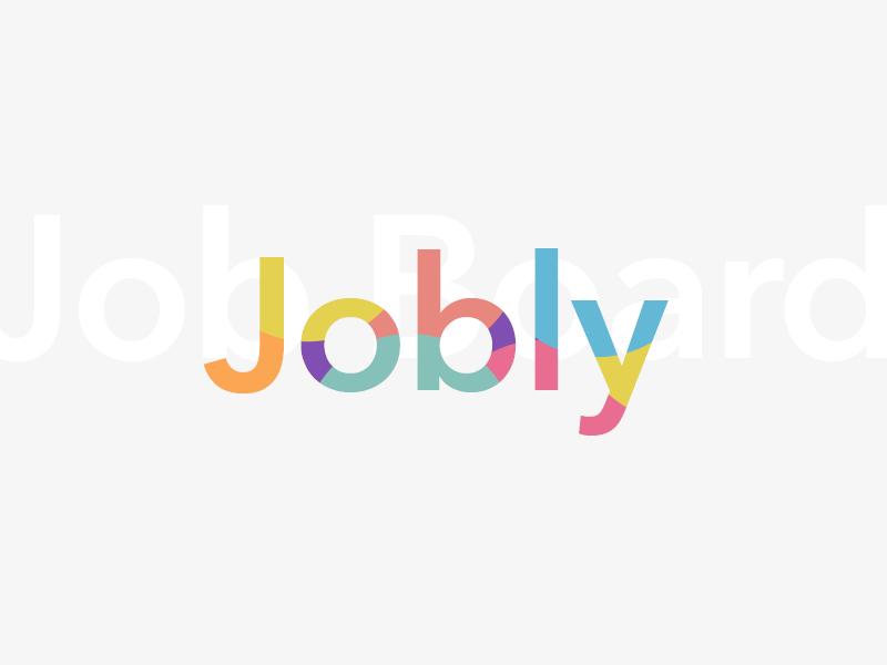 Job Board Logo colours design logo board job