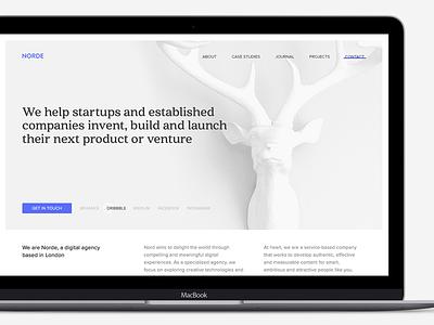 Digital Agency Website WIP webdesign minimal content design white grey deer clean website agency digital