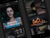 Online Magazine Dark Mobile Layout