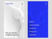 Norde Digital Agency, Mobile Layout