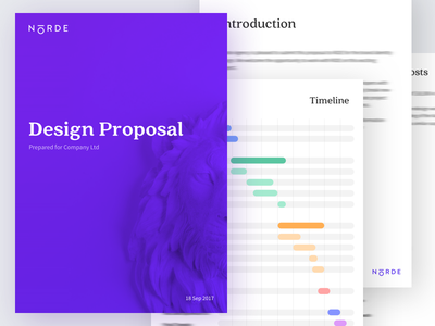 Norde Design Proposal timeline contract branding invoice doc proposal norde