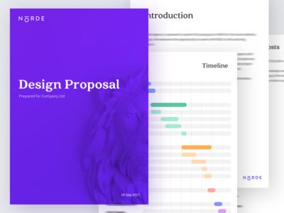 Norde Design Proposal timeline contract branding invoice doc proposal norde