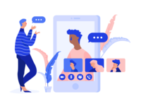 Video Chat Illustration