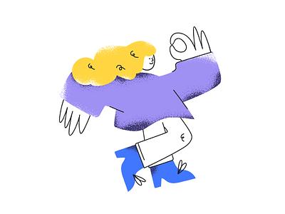 Ok! purple girl illustration