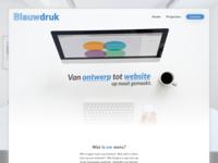Blauwdruk Agency Homepage Web design