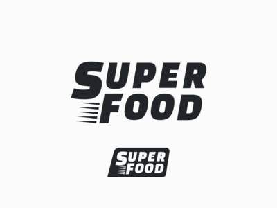 Superfood Logo Design (Google Font) retro monogram thick lines bold thickness thick google food quick fast font design font google font welcome invitation typography logo