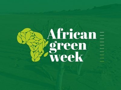 African Green Week - Logo & UI/UX ui-design occasion minimal clean environmental-issues environment learning inventory debate reflection awareness green-week solid bold green african wordpress website development identity logo