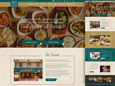 HC - UI/UX bold indianfood restaurant indian wordpress webdevelopment webdesign ux ui