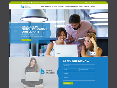 BEC - UI/UX london website development visual design webdesign bec dark wordpress bold minimal clean uidesign ux ui