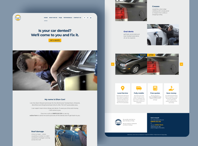 WLD - Branding - UI/UX dark-blue yellow gray brand identity ux wordpress theme wordpress identity ui bold logo minimal clean