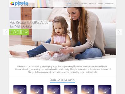 Logo, UI/UX Design & Website Development for Pixeta App Lab