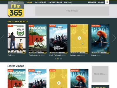 Logo & UI/UX for Film 365 a Video Streaming Website