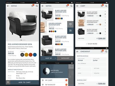 Keycart Lite UI Kit for eCommorce elegant keycart photoshop bold clean ecommerce web kit ui