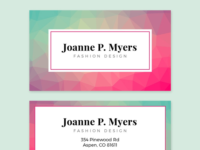Business Card Template (Adobe InDesign) design modern polygon template layout adobe indesign indesign business card