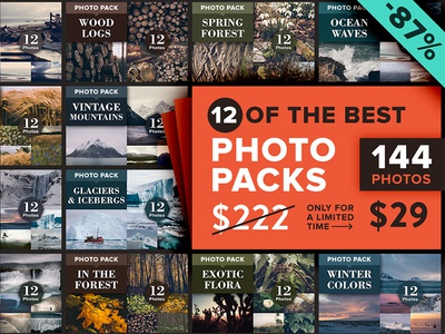 12 Best-Selling Photo Bundles (144 Photos)