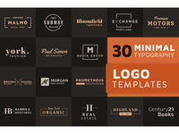 30 Minimal Typographic Logo Templates for Illustrator