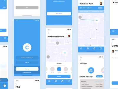 Carcare App Wireframes