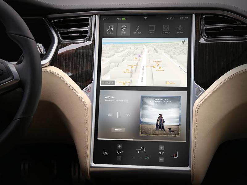 Tesla Dashboard Screen Concept car model x model s concept interface ui ux screen dashboard tesla