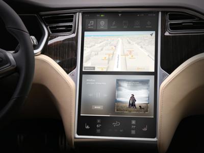 Tesla Dashboard Screen Concept
