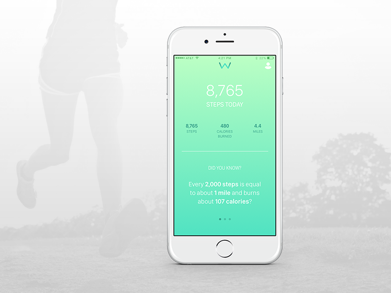 iPhone Workout App miles calories distance steps iphone app exercise workout