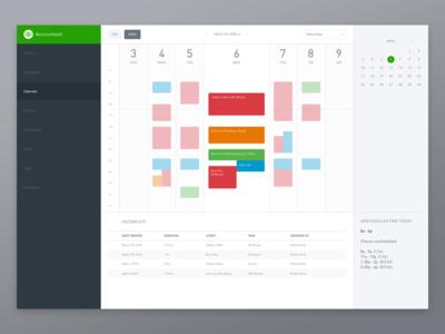 Accounting Calendar: Week View