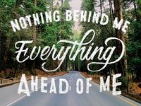 Nothing behind me