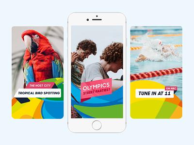 Rio Olympics Snapchat snapchat discover rio olympics mobile olympics snapchat ui buzzfeed