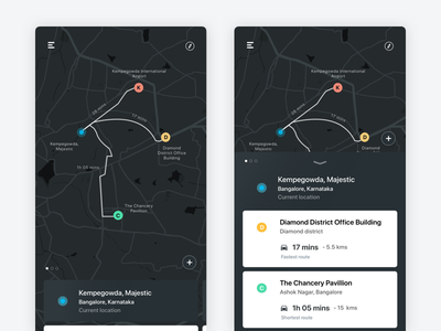 Maps - Multiple locations mobile interaction navigate search location maps