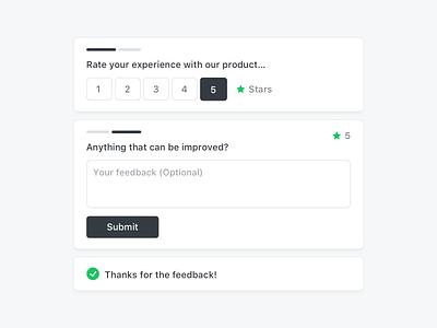 Feedback Component rate ui nps interface feedback