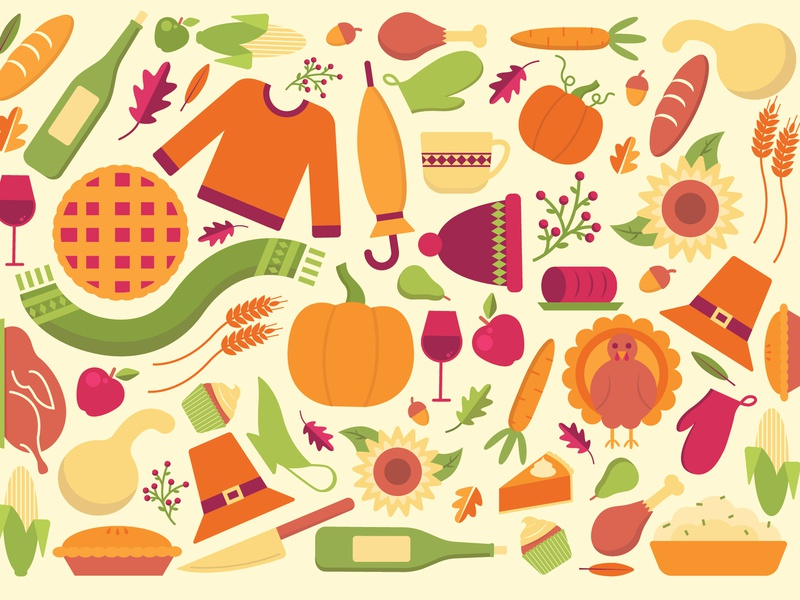 Memories of Fall cranberry sause acorn dessert leaves scarf holiday sunflower umbrella corn sweater mashed potatoes wine turkey pumpkin pilgrim pie dinner fall thanksgiving