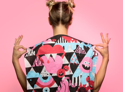 LMT Brandana patternart pattern illustrate paint bandana handpainted handpaint illustration branding brand