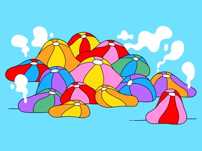 Hot Beach Balls vector ipad apple pencil illustrate illustration beach summertime summer
