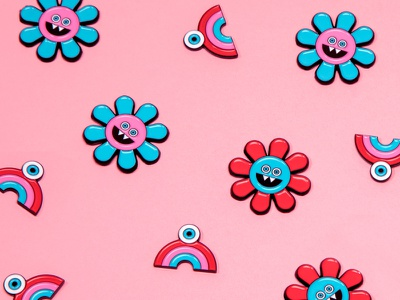 Lindsey Made This pins pins flair enamel pin monsters flowers illustrate illustration enamelpins