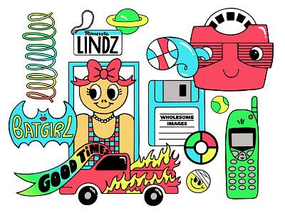 Copy&Cats: Parrilla procreate ipad applepencil wip icons stickers vector