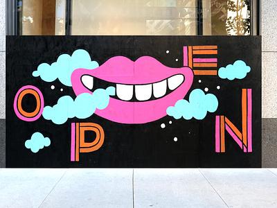 Michigan Ave. Coach Store Mural smile paint streetart murals mural