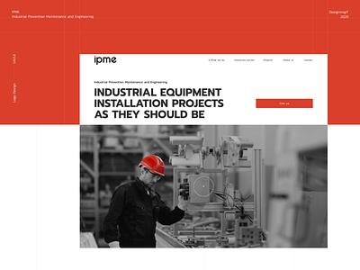 IPME industrial design logo responsive redesign ui design ux  ui homepage
