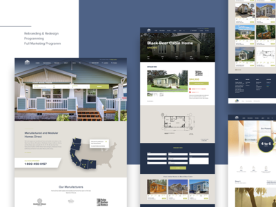 Homes Direct logo real estate ux  ui responsive design innerpages homepage