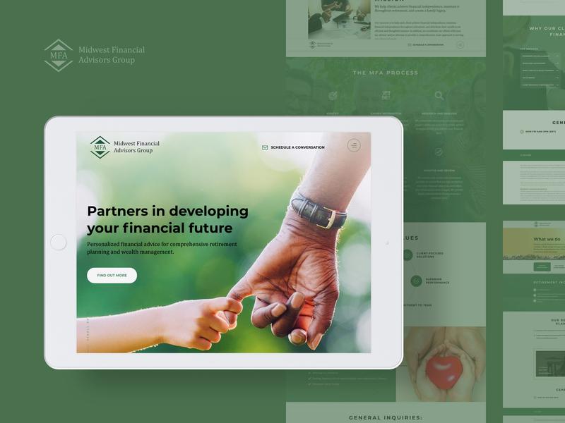 MFA website finance business corporate website green app design ux  ui logo innerpages homepage