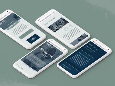 Purpose Workforce Solutions Website - mobile UI mobile uiux green responsive design homepage innerpages mobile ui