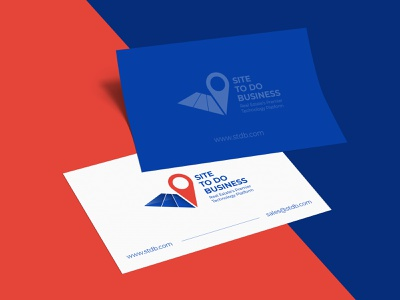 STDB - logo redesign blue blue and red red logo logo design real estate rebranding logo