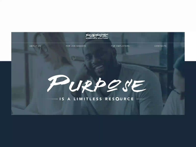 Purpose Workforce Solutions - Homepage overview animation ux  ui homepage