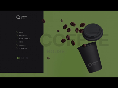 Coffee Digs presentation ui cofee house animation ux  ui