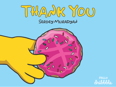 Thank You design vector illustration cartoon thank you donuts the simpsons hello dribbble