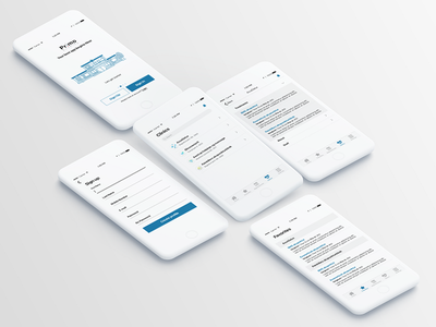 App Design mockup app ux ui ios appointment booking medical