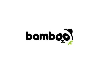 Bamboo, panda logo branding logo vector design