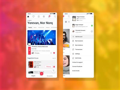 Event Manager manager social event design app ux ui