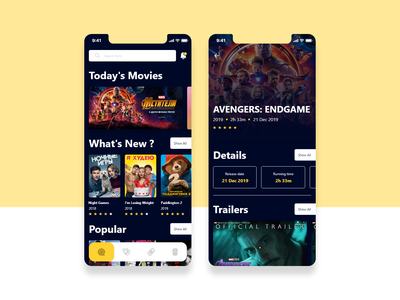 Movie app movie app movie adobe xd app ux ui design