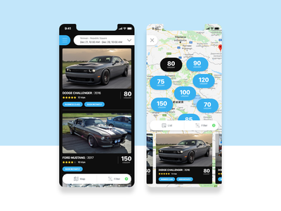 Rent a Car app ios black and blue black dark app dark map app map designer car booking booking app car rent a car rental rent booking adobe xd design app ux ui